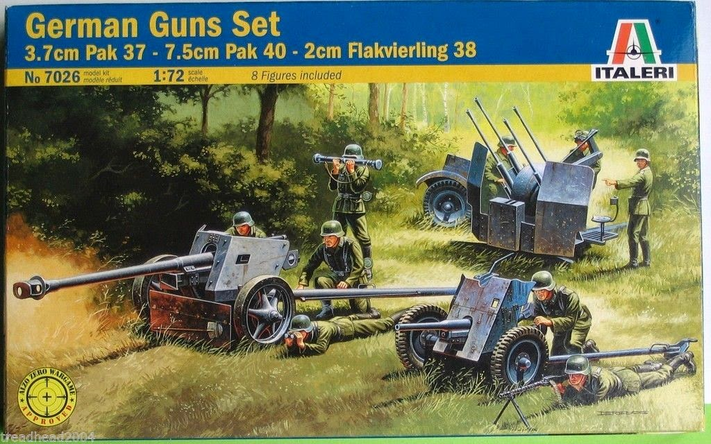 German 50 Mm Anti Tank Gun: Aurelius Legion: Italeri 1/72 Scale WW2 German PAK 36