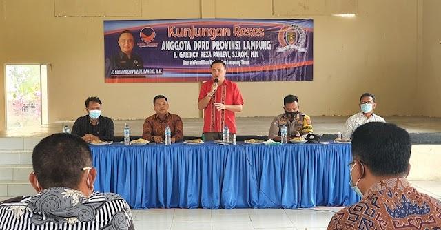 Anggota DPRD Lampung GRP Serap Aspirasi Masyarakat Karya Tani