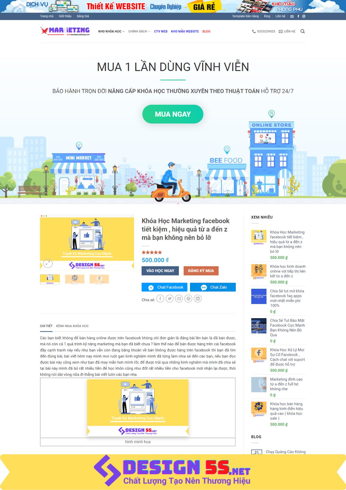 Mẫu website bán khóa học online chuyên nghiệp, hiện đại - Ảnh 2