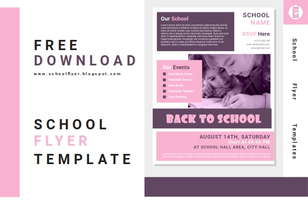 Free Back To School Flyer Templates Word Document Fully Editable File