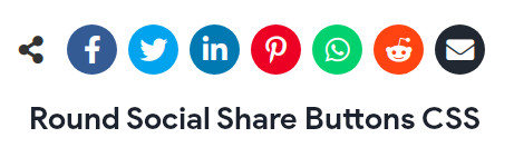 Round Social Share Buttons CSS