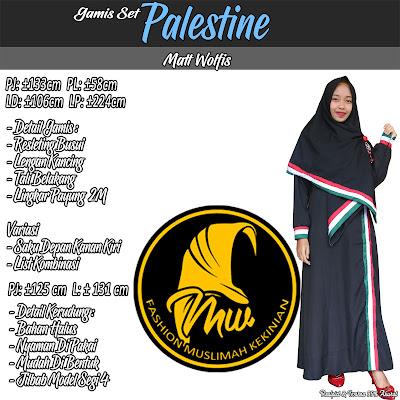 Gamis Setelan Palestine Bahan Halus Dan Nyaman Di Pakai