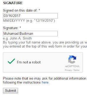 Formulir signature melaporkan pencuri konten ke DMCA