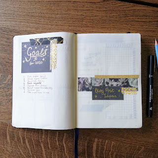 2020 Bullet Journal Set Up, 2020 Goals and Blog Post Ideas