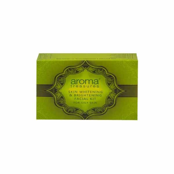 Aroma Treasures Skin Whitening & Brightening Facial Kit for Oily Skin In Hindi