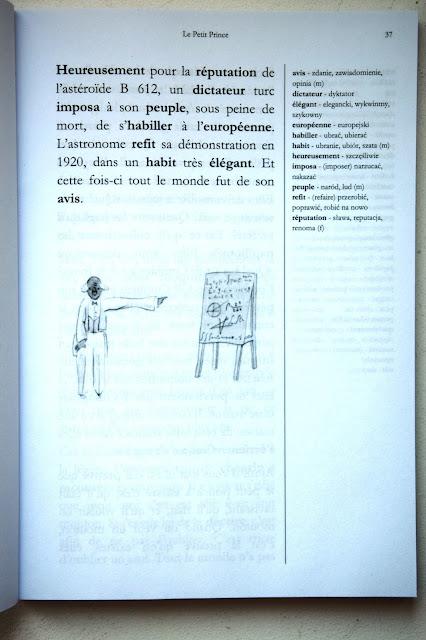 """Recenzje #32 - """"Le Petit Prince"""" [ze słownikiem] - przykładowa strona - Francuski przy kawie"""