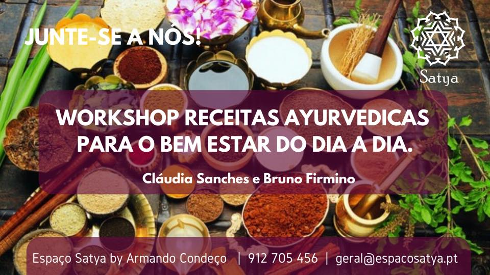 Workshop de receitas ayurvedicas para o bem-estar do dia a dia no Porto