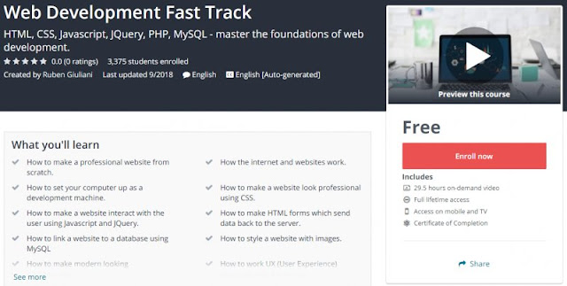[100% Free] Web Development Fast Track