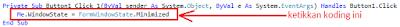2 - Cara Menciptakan Tombol Minimize Sendiri Di Vb.Net