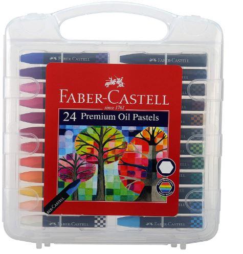 Faber-Castell Premium Hexagonal Oil Pastel Set - Pack of 24