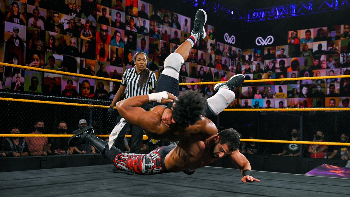"Ashante ""Thee"" Adonis and Ariya Daivari on WWE 205 Live"
