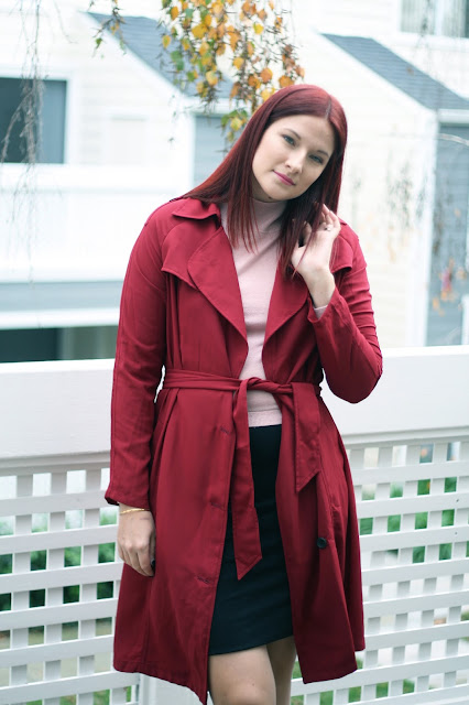 midi jacket, burgundy, make me chic, fashion blogger
