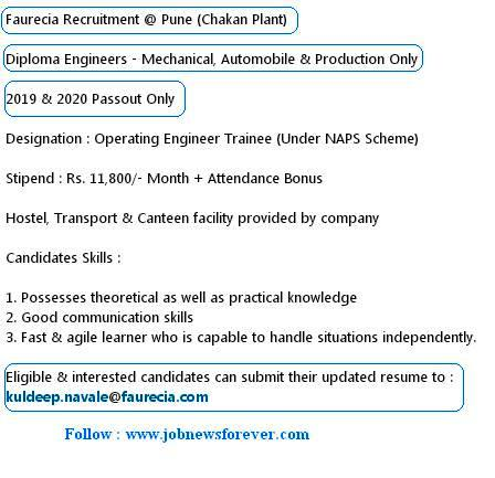 Job Opening for Diploma Trainee Engineers apply here.