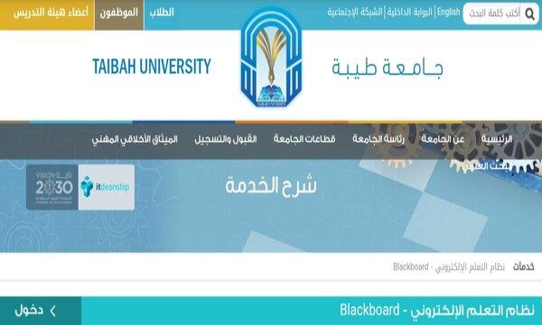 نظام التعلم الالكتروني بلاك بورد جامعة طيبة