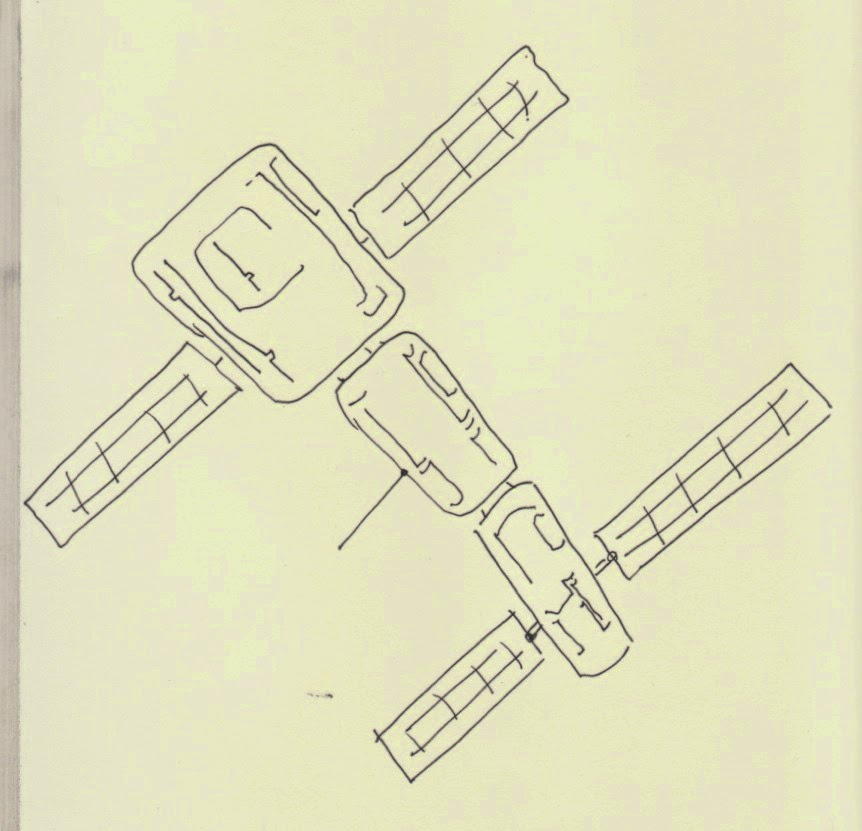 door drawing space station - photo #36