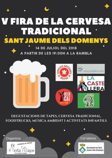 Esguard de Dona - V Fira de la Cervesa Tradicional a Sant Jaume dels Domenys  14 de juliol de 2018 - a partir de les 19 hores a la Rambla.