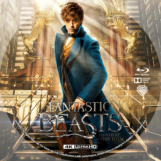 Fantastic Beasts And Where To Find Them 4k Bluray Label