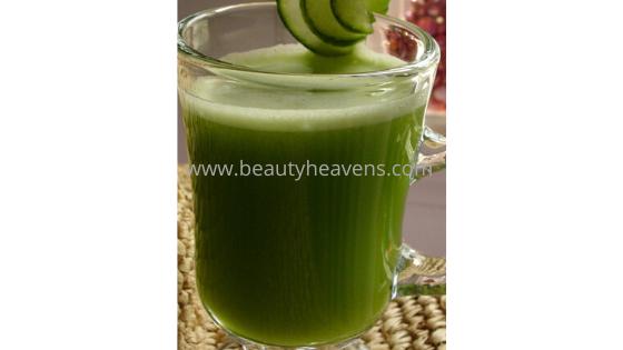 Cucumber juice belly fat