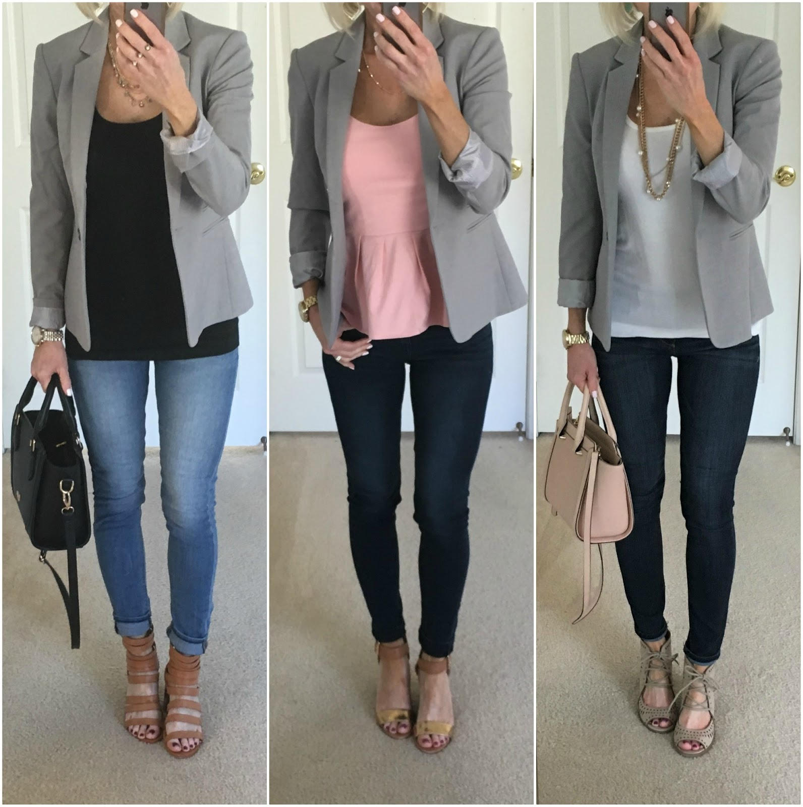 Three Ways to Wear a Gray Blazer | On the Daily EXPRESS