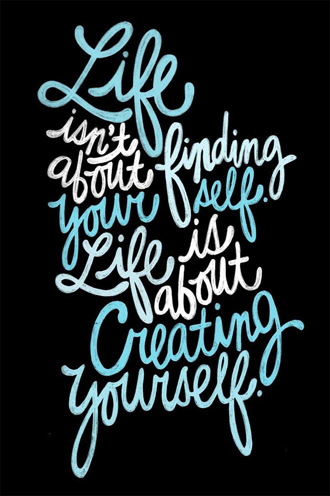 Inspirasi desain tipografi terbaik dan terbaru - June/July Typography by Raphaella Martelino