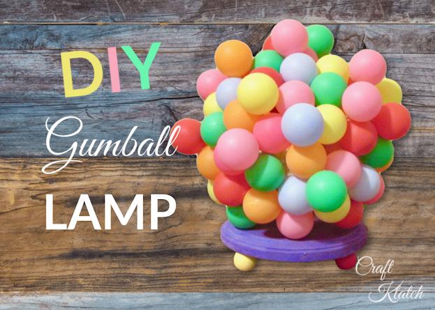Lamp DIY Ideas: Gumball Lamp