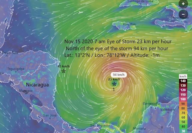 Hurricane IOTA Sunday Nov 15 2020 7 am