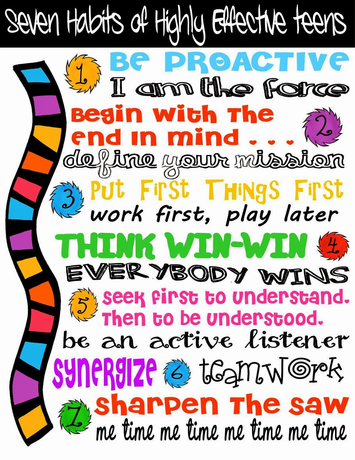 Brand New 7 Habits Of Highly Effective People Poster Jw49