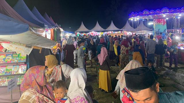 Pemerintah Umbar Pasar Malam Tak Berizin Abaikan Prokes di Karang Penang Sampang
