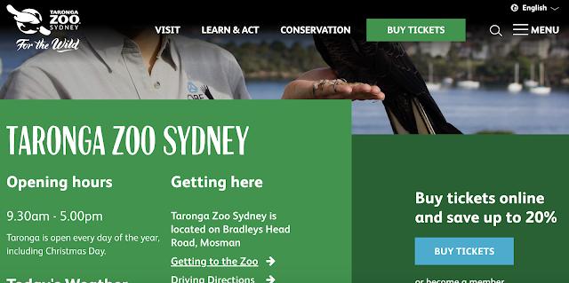 動物園系列(一) - Taronga Zoo 塔龍加動物園
