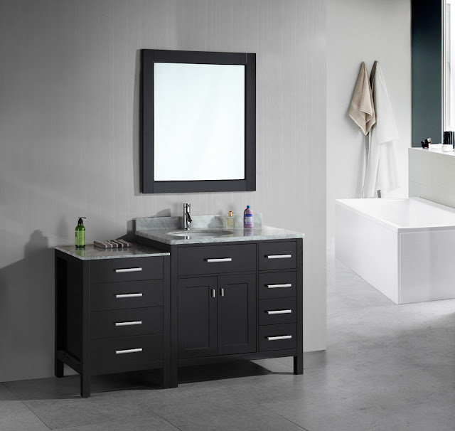 56 inch Modular Bathroom Vanity Espresso Finish