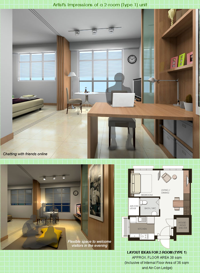 Coastal Design 2 Room Bto Flat: The Bigger Your HDB Flat, The More Expensive It Gets