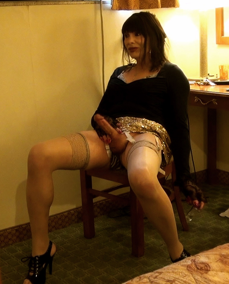 crossdresser erection in dress