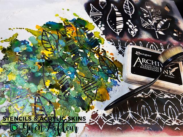 Stencils & Acrylic Skins Tutorial - Step 5 - Gwen Lafleur