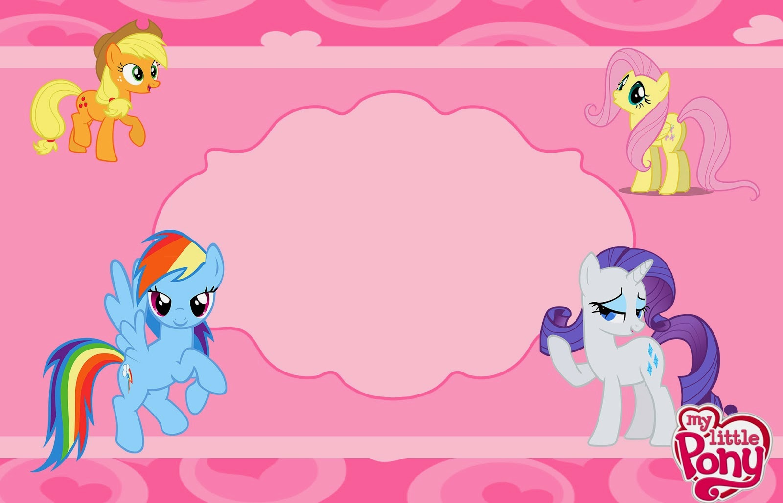 Fiesta de My Little Pony: Invitaciones para Imprimir Gratis. | Ideas ...