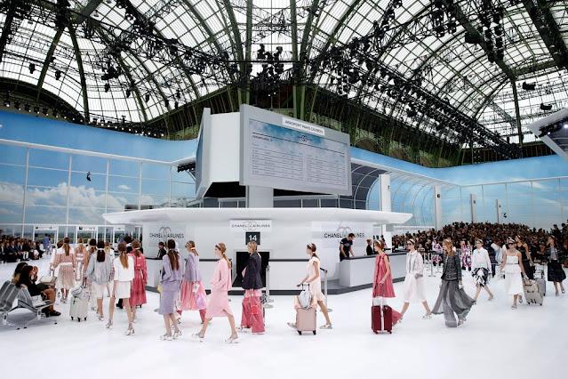 Chanel, Fashion Show, Airport, Paris, France, Paris Fashion Week, Grand Palais, Models, Fashion Show, Venue
