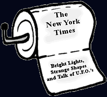"""Pablum that Passes for UFO Coverage in The New York Times"""