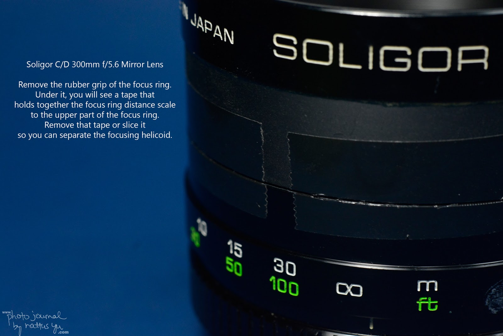 Soligor C/D 300mm f/5.6 Mirror Lens by Komine, Stiff Focus Ring and Fungus