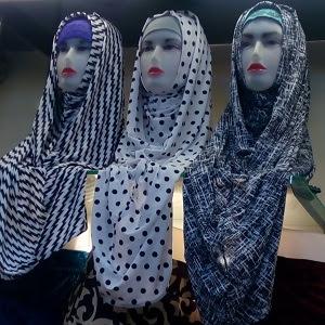 Hijab Monochrome Long Hoodie Rizza Collection Hijab