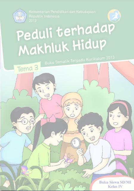 Download Buku Siswa Kurikulum 2013 SD Kelas 4 Tema 3, Peduli Terhadap Makhluk Hidup