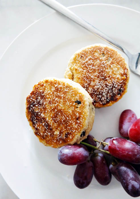 plated Welsh Cakes