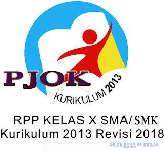 RPP PJOK kelas 10 SMA/SMK Kurikulum 2013 Revisi 2018