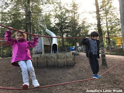 Outdoor play area at Center Parcs Whinfell Forest