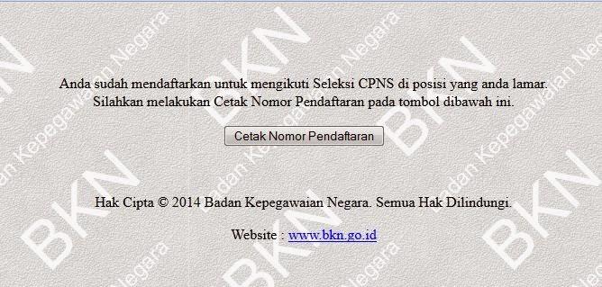 Mekanisne Pendaftaran CPNS Tahun 2014