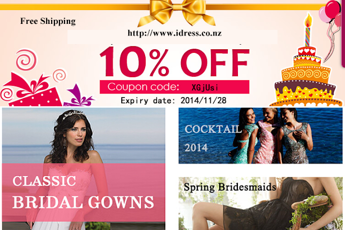 Dresses Coupon from idress.co.nz all 10% discount and free shipping