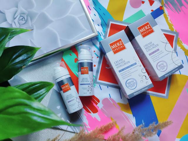 MERZ SPECIAL - Pianki do pielęgnacji skóry twarzy z kolagenem i kwasem hialuronowym