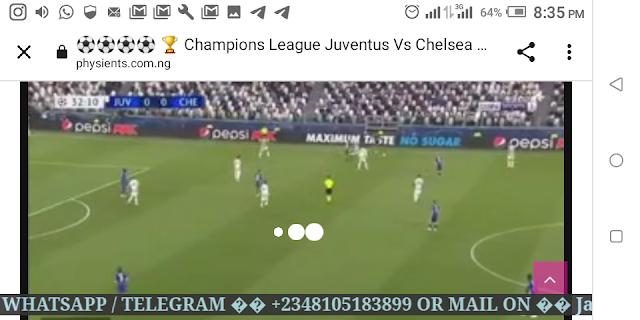 ⚽⚽⚽⚽ 🏆 Champions League Juventus Vs Chelsea Live HD ⚽⚽⚽⚽