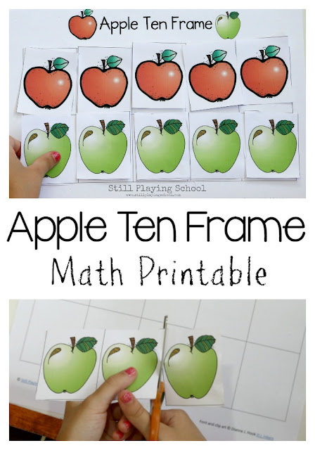 This free math printable is the perfect hands on activity for kids if you teach an apple theme!