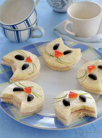 Roti lapis bentuk kucing