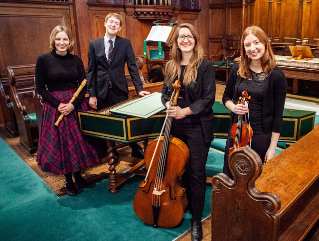 Ensemble Hesperi - Mary-Jannet Leith (recorders), Thomas Allery (harpsichord), Florence Petit (baroque cello) and Magdalena Loth-Hill (baroque violin)