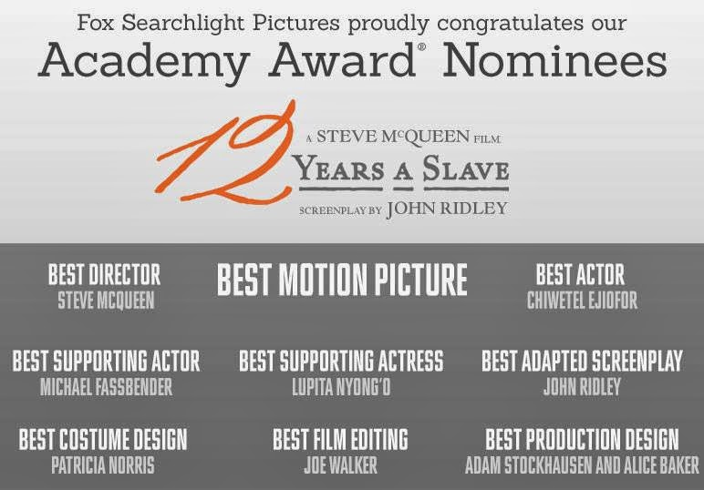 12 years a slave oscar nominations